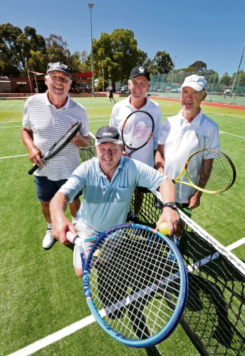 FRONT KNEELING: John Daff (Facilities Manager). BACK L-R: Paul Greenway, Tony Hemmings and Ian Sangster. Photo: David Baylis