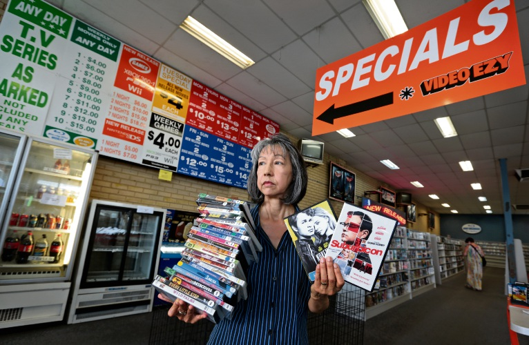 Video Ezy Midland's Colleen Lebrasse. The store closes its doors after nearly 30 years in the same location. Picture: David Baylis d480282