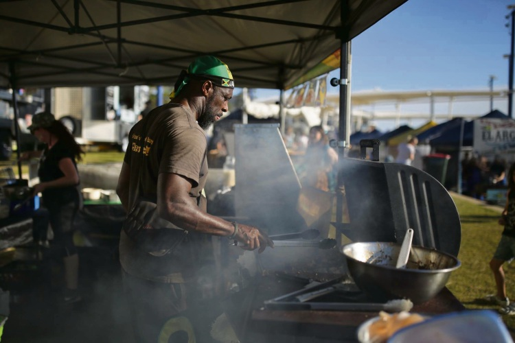 Kazz's Jamaican Kitchen will be among a number of food trucks at the City of Melville's outdoor movie night on March 16. Own Errol Dunkley (pictured) has promised plenty of flavour and theatre.