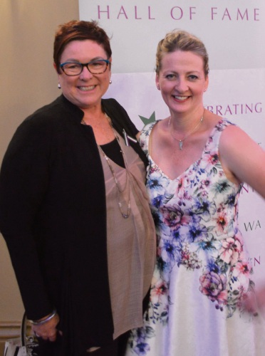 Maylands MLA Lisa Baker and Angelhands founder Ann O'Neill.