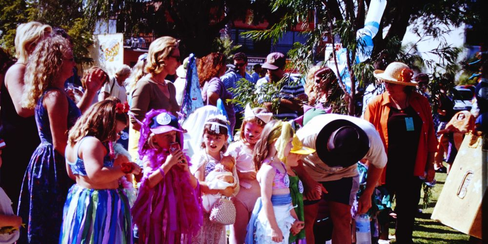 The dress-up competition at the 2001 Mandurah Crab Fest.