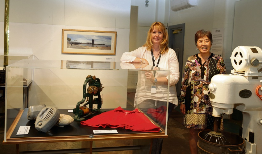 Museum curator Gina Capes and local history officer Kaylene Poon.