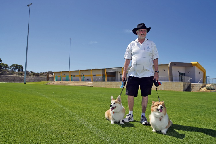 Bob Meek (Yanchep) with Taffy and Cooper. Photo: Martin Kennealey