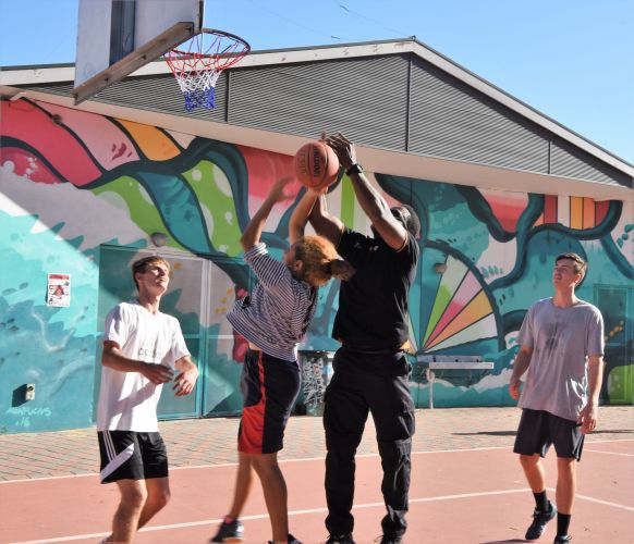 Basketball and hip-hop kicked off Hoops & Jams last week.