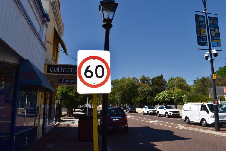 The speed limit on King William Street in Bayswater is at 60 km/h but the City of Bayswater wants it reduced to 40km/h. Picture: Kristie Lim