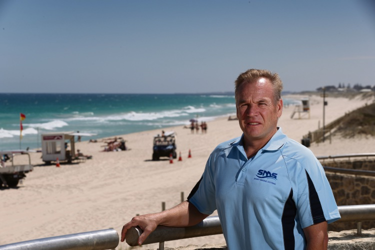 Smart Marine Systems founder Craig Anderson has made a presentation to the Scarborough Beach Association about its Clever Buoys system, which was trialled at City Beach last year, and wants it to be installed at Scarborough. Picture: Andrew Ritchie d480435