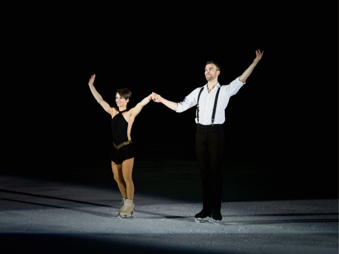 Champion Canadian pair Meagan Duhamel and Eric Radford are in Perth to run an ice skating camp at Cockburn Ice Arena, where they have also performed. Pictures: Chelsea McCann