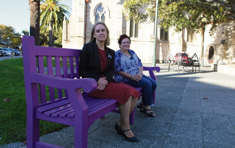 Fremantle MLA Simone McGurk with Angela Hartwig – CEO of the Women's Council.