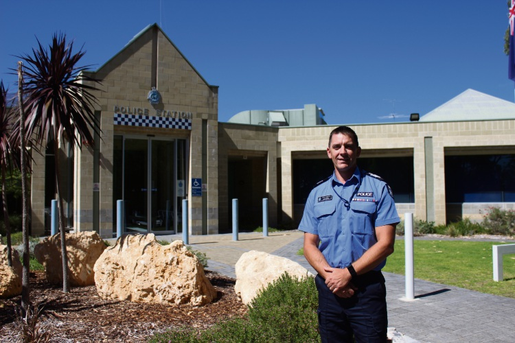 Mandurah Police Station's returning Officer-in-charge senior sergeant Dean Snashall.