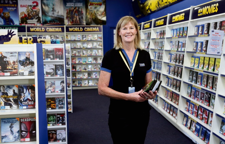 Blockbuster Morley owner Lyn Borszeky. Picture: Martin Kennealey d480399