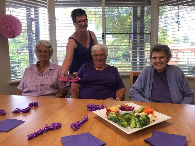Betty Werrett , Shirley Whiteaker, Olga Sugars and Betty Ettridge.