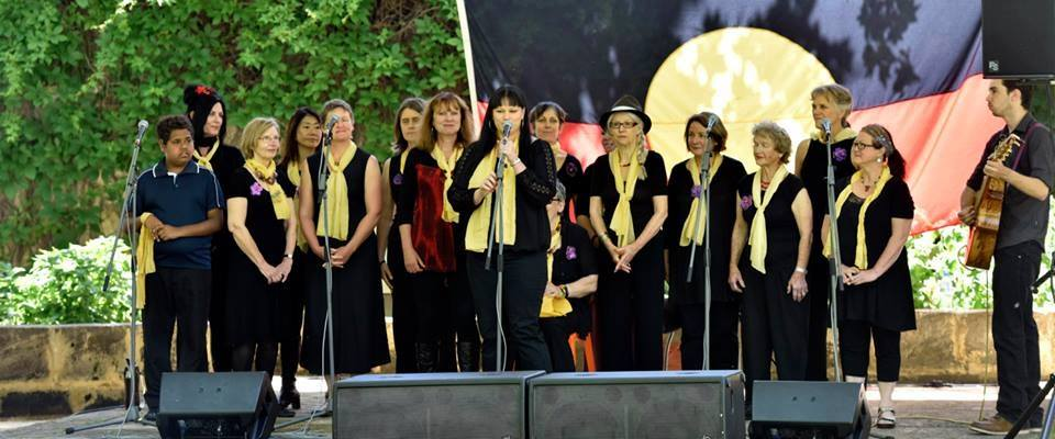 Madjitil Moorna choir performing at a recent Harmony Day event.