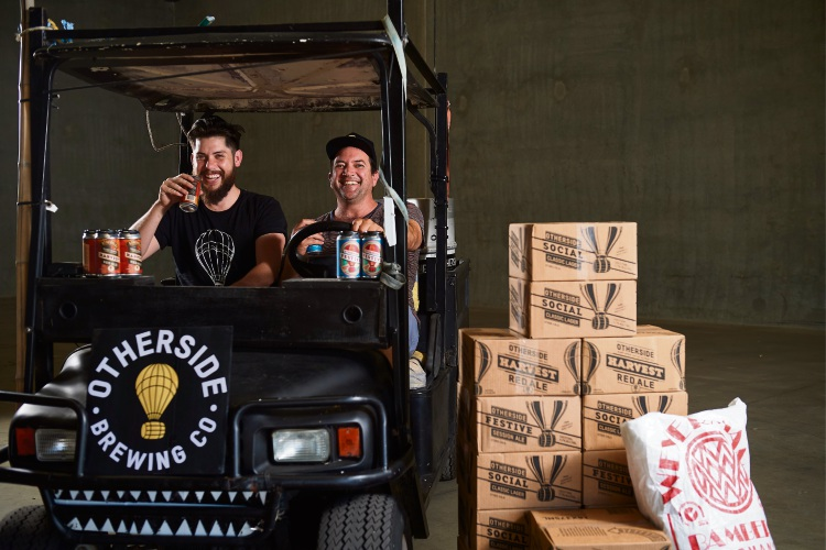 Otherside Brewing Co director Dave Chitty and brewer Rhys Lopez.