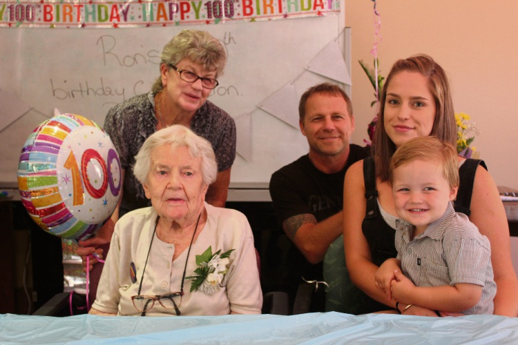 Veronica Stark celebrated her birthday with five generations of her family.