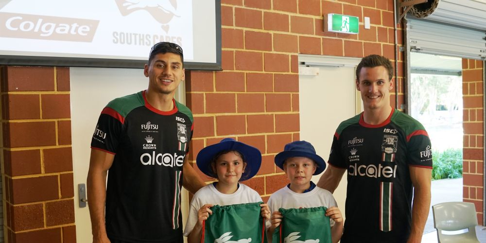 South Sydney Rabbitohs players visited Forrestfield Primary School.
