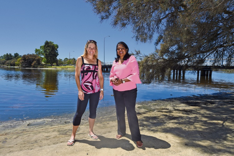 Kate Bevilaqua and City of Canning councillor Yaso Ponnuthurai.