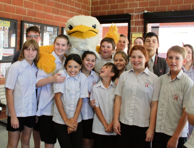Rockingham Senior High School Education Support students with Ric The Rock