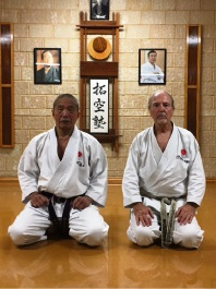 JKA karate Master Takenori Imura Shihan and Chief Instructor of the JKA KDA Jim Wood MBE.