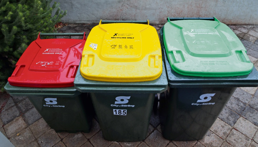The City of Wanneroo is considering a three-bin system. Photo: Martin Kennealey