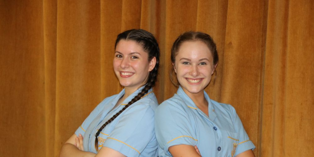 Breanna Abreu (17) and Tabitha Kerlin (14) will share the lead role in Iona Presentation College's production of Thoroughly Modern Millie.