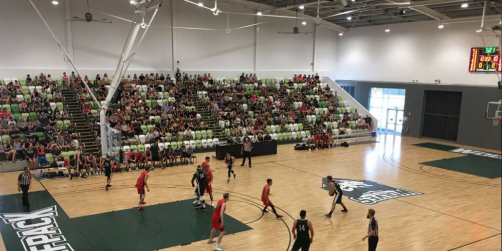Calm before the storm: the new court was in low key mode when Joondalup faced the Wildcats development side in a practice game.