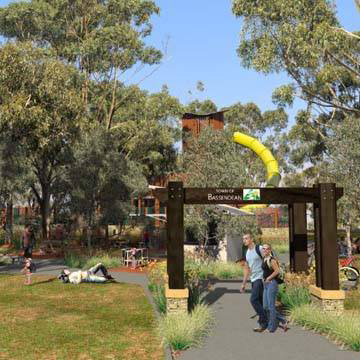 An artist's impression of the proposed Sandy Beach Reserve nature playground. Picture: Town of Bassendean/Facebook.