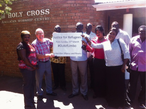 Holy Cross Anglican Church members will be taking part in the Palm Sunday Walk for Justice for Refugees.