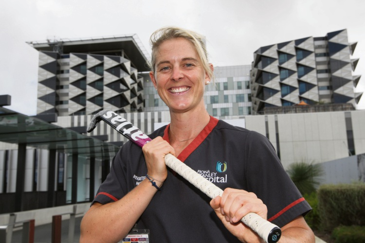 Fiona Stanley Hospital nurse and Hockeyroos goalkeeper Rachael Lynch.