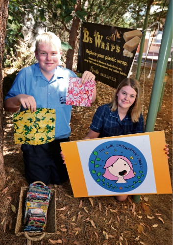 Brodie Lawson and Jordyn Hullett are determined to make a difference. Picture: David Baylis www.communitypix.com.au   d479985