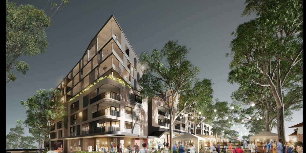 TRG Properties and Primewest's proposal for housing, cafés and retail in the Montario Quarter in Shenton Park.