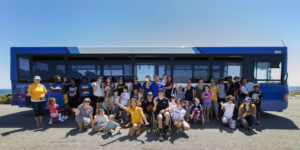 Ronald McDonald House families enjoyed a super day on Rottnest. Picture: Ross Swanborough.