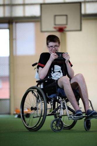 Blake Stevenson (14) had a brain tumour removed and since surgery last year has used a Nintendo Switch to help with mobility in his right hand. He lost it recently and was to returned to him by a stranger. Picture: Andrew Ritchie.