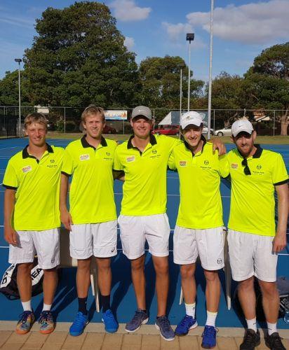 Alex Downey, Brydan Klein, Aaron Leederchard, Sam Maxwell (team manager) and Brenton Bacon.