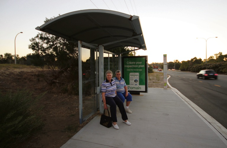 Rhonda Thomas and Willy Fisher are concerned the interchange will affect bus services.