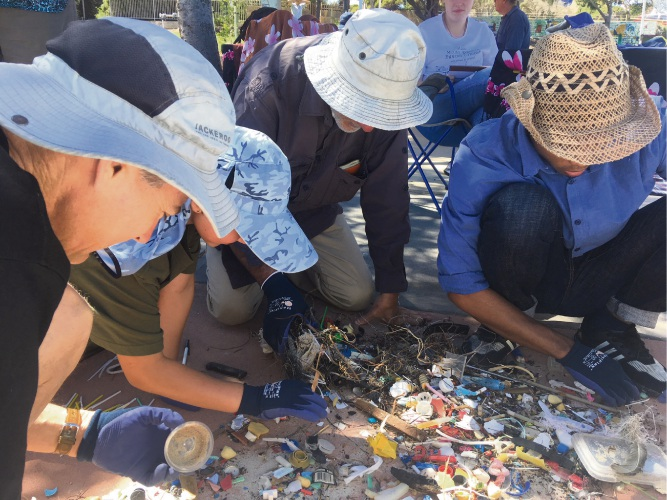 Millenium Kids held an event collecting litter at Quinns Beach recently.
