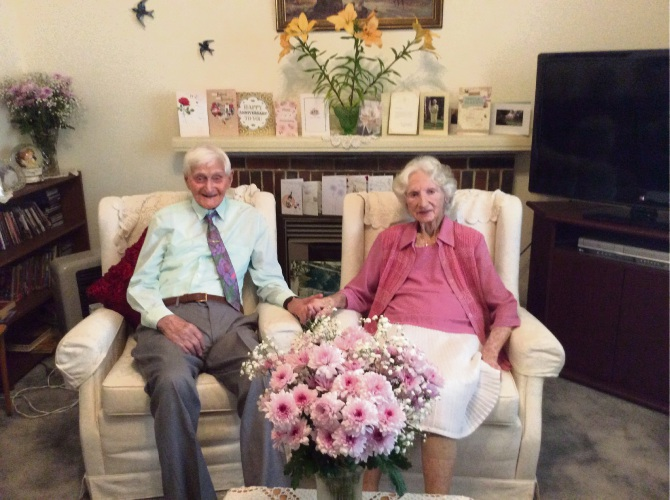 Doubleview residents Kath and Bert Bisby celebrated their 70th wedding anniversary this month.