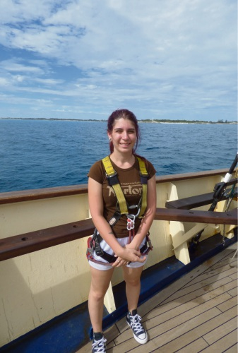 Kaela Blackburn aboard the STS Leeuwin II.