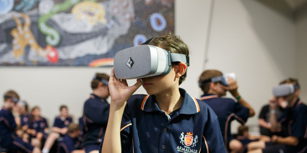Armadale SHS students enjoyed the technology on offer at the Innovation Festival recently.