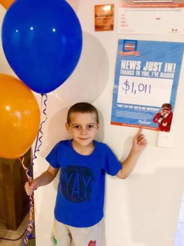 Safety Bay five-year-old Alex Dickson raised more than $1000 for the World's Greatest Shave.