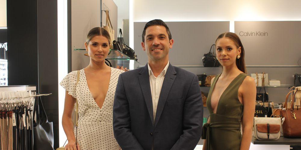 David Jones Retail Director Aaron Faraguna with David Jones models.