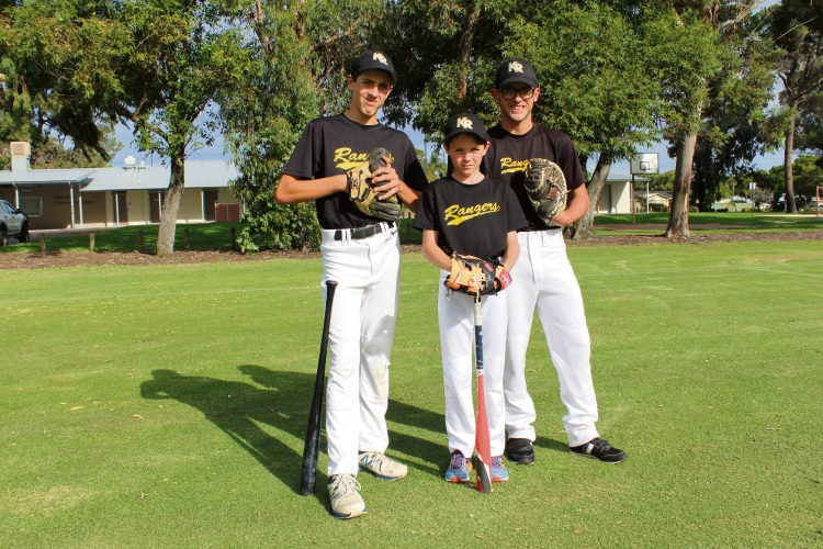 Kyle, Harley and Beau Cornfield are talented baseball players.