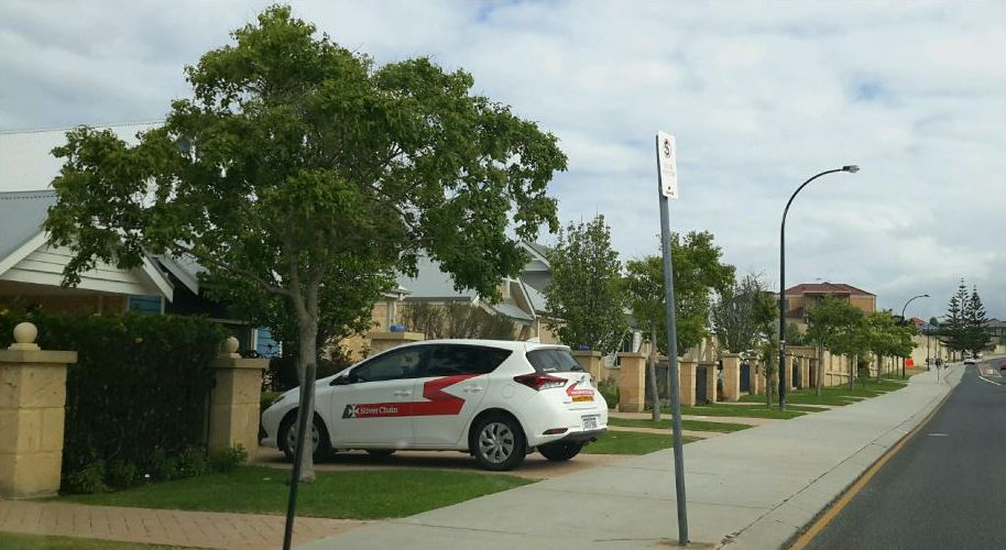 The City of Wanneroo issued a parking fine for parking in a driveway crossover.