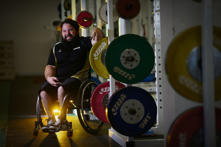 Para Powerlifter Ben Wright is off to the Commonwealth Games. Pictures: Andrew Ritchie d480595