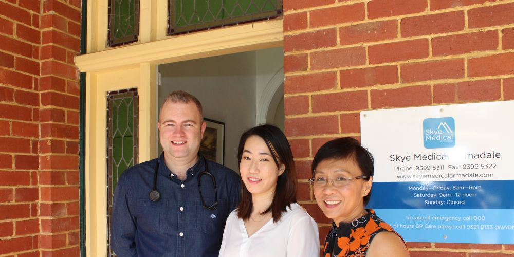 Local Armadale GP Dr Lewis MacKinnon, Regional Manager WA Primary Health Alliance Kher-Sing Tee and Director of Allied Health Armadale Kalamunda Group, Dr B-K Tan.