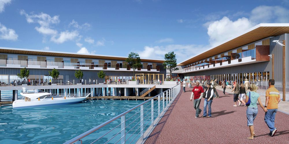 Artist impression of the Wanliss St marina.