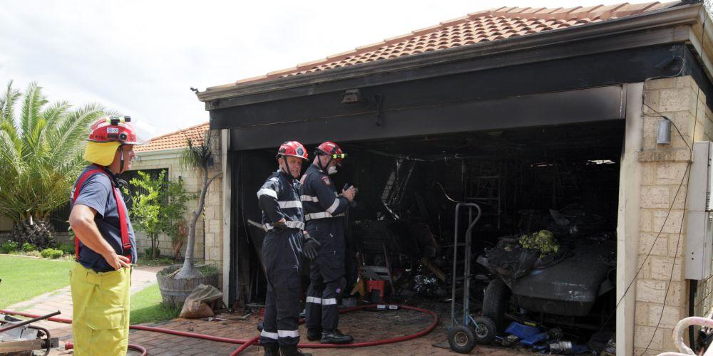 Firemen at the scene. Picture: Bruce Hunt d481072