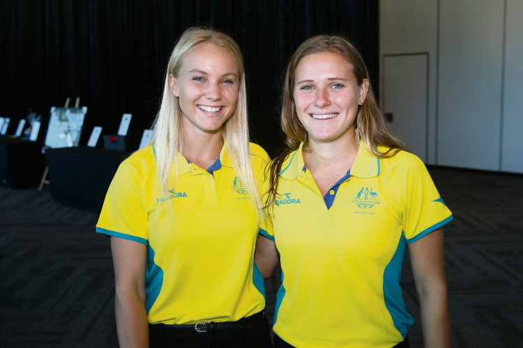Steph Kershaw and Kaitlin Nobbs (Hockey).