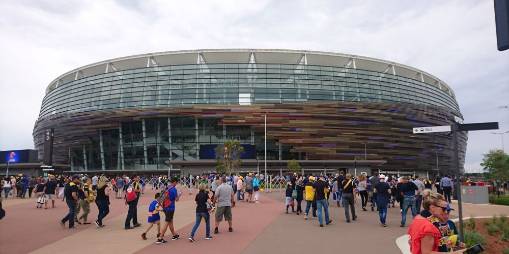 First AFL game at Optus Stadium stretches Transperth to capacity