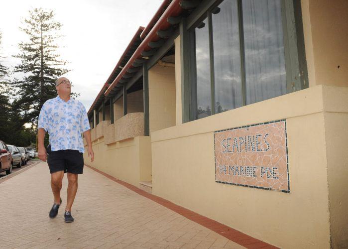 Six storeys at Sea Pines is too high for Keep Cott Low's John Hammond. Picture: Jon Bassett.