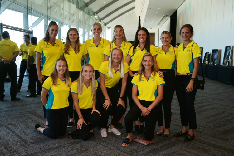 Hockey stars Steph Kershaw and Kaitlin Nobbs are heading to the Gold Coast for the Commonwealth Games. Picture: Andrew Ritchie    d480858